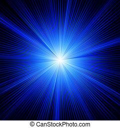 蓝色, 颜色设计, 带, a, burst., eps, 8