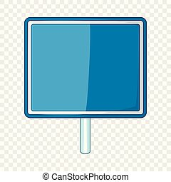 蓝色, 风格, 签署, 空白, 图标, 卡通漫画, 道路