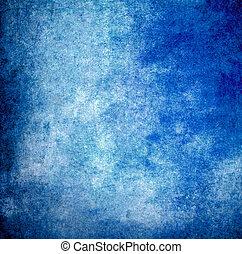 蓝色, grunge, 墙壁, 结构, 涂描, 背景, 或者