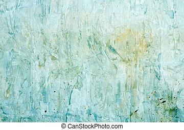 蓝色, grunge, 墙壁, 结构, 混凝土, 背景, 或者