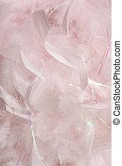 蓬松, 粉红色, 羽毛, 在中, 阳光, 背景