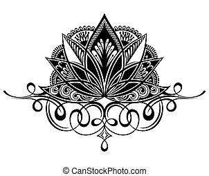 蓮花, 金絲的細工飾品, 花