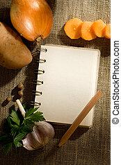 蔬菜, 同时,, notepad