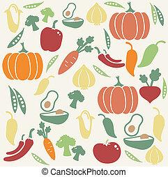 蔬菜, 圖案