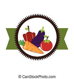 蔬菜, 新鮮, 產品, 封印