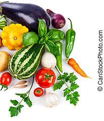 蔬菜, 新鮮, 離開, 綠色