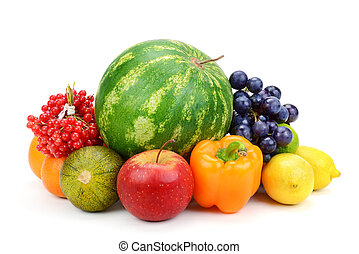 蔬菜, 白色, 被隔离, 水果