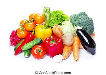 蔬菜, 白色, 被隔离, 背景