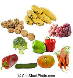 蔬菜, 被隔离, 水果