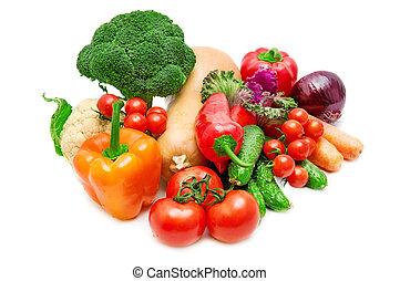 蔬菜, 隔离, 在上, a, 白的背景