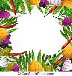 蔬菜, 香料, 背景