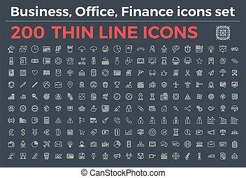 薄くなりなさい, アイコン, ベクトル, オフィス, 変化, 金融, 主題, stroke., ビジネス, editable, illustration., 線