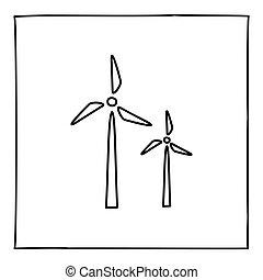 薄くなりなさい, 引かれる, ∥あるいは∥, アイコン, 風車, 手, ロゴ, ライン。, いたずら書き, 黒