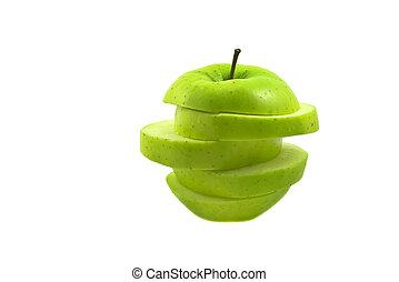 薄く切られる, アップル