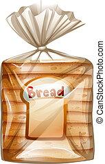 薄く切られる, パック, bread