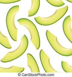 薄く切られる, thinly, 小片, avocado.