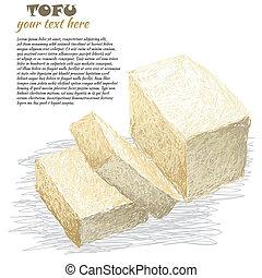 薄く切られる, tofu