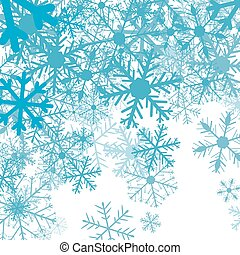 薄片, ベクトル, 冬, 背景, 雪