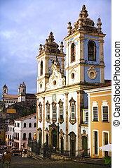薩爾瓦多,  Bahia, 教堂,  dos,  pretos, 羅薩里奧