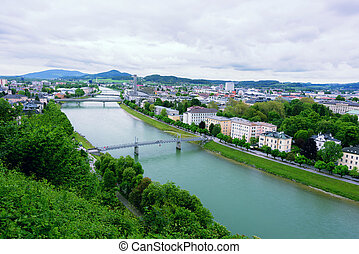 薩爾茨堡,  salzach, 河