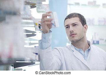 薬局, 化学者, 薬局, 人, 薬剤師
