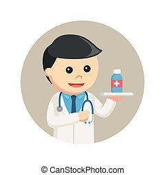 薬, 円, 背景, 保有物, 医者