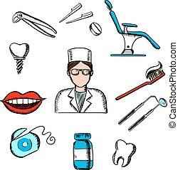薬, 歯医者の, 要素, 歯科医, 歯科医術