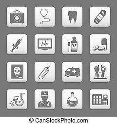 薬, 網アイコン, ボタン