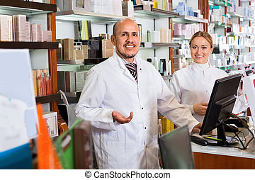 薬, 薬剤師, マレ, 店, 女性, 仕事