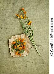 薬, calendula., herbs., dried., 草, 薬効がある, phytotherapy