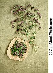 薬, herbs., dried., oregano., 草, 薬効がある, phytotherapy