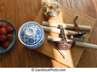 薬, moxibustion, 現場, 中国語