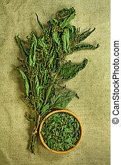 薬, nettle., herbs., dried., 草, 薬効がある, phytotherapy