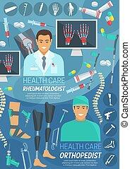 薬, rheumatology, orthopedics, 旗
