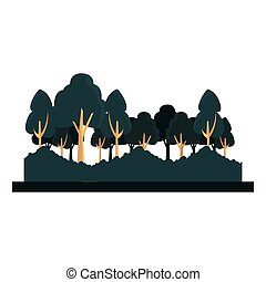薮, 自然, 木, 緑の葉群, 風景