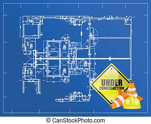 藍圖, 建設, 在下面