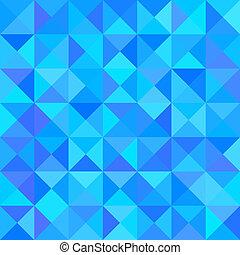 藍的三角形, 摘要, 形狀。, 矢量, 背景