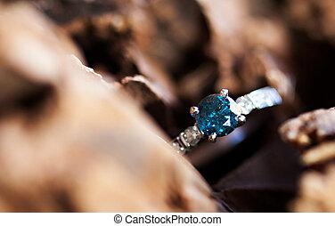 藍色圓環, 鑽石, 婚禮