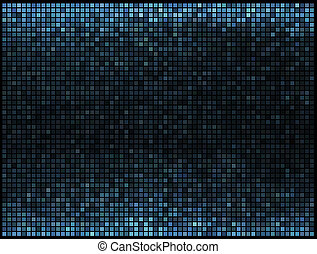 藍色正方形, 光, 摘要, 迪斯科, 背景。, multicolor, 矢量, 象素, 馬賽克