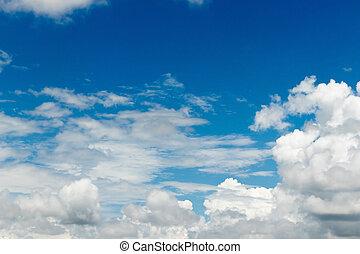 藍色的天空云, 背景, strom.