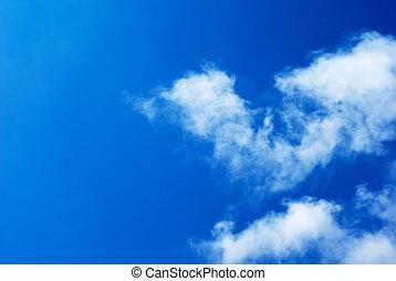藍色的天空, 云霧, 陽光