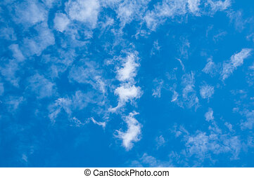 藍色的天空, 以及, 云霧
