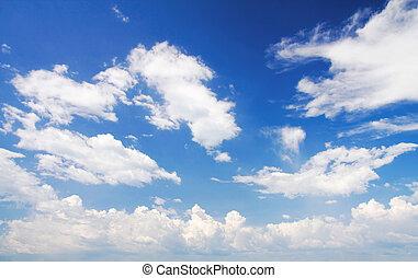 藍色的天空, 以及, 白色的云霧