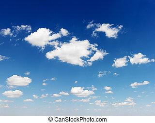 藍色的天空, 以及, clouds.