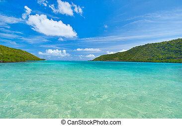 藍色的天空, 水域, 加勒比海, 液體