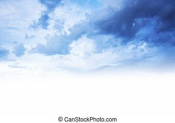 藍色的天空, 邊框, 背景