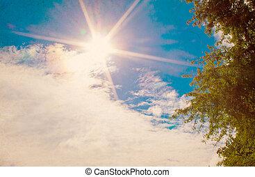 藍色的天空, clouds.