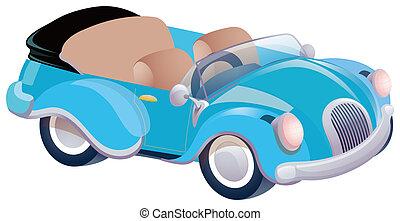 藍色的小汽車