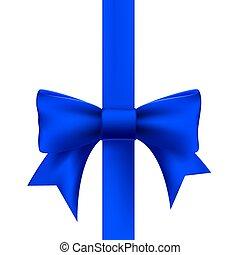 藍色的帶子, 由于, a, 弓