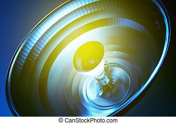 藍色的燈, 反射器, 在, 醫學, 環境